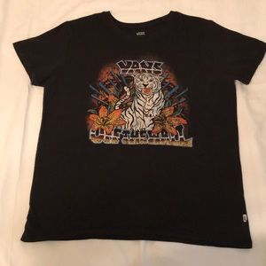 Vans White Tiger Tee Size Small